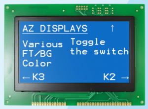 AZ Displays ATM2412b High Contrast Graphic Module TFT LCD logic